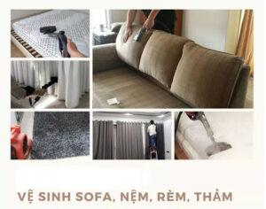Báo giá dịch vụ giặt ghế sofa nệm thảm rèm cửa